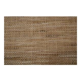 Schumacher Grasscloth 'Hogo Burlap' Wallpaper Rolls - Set of 3