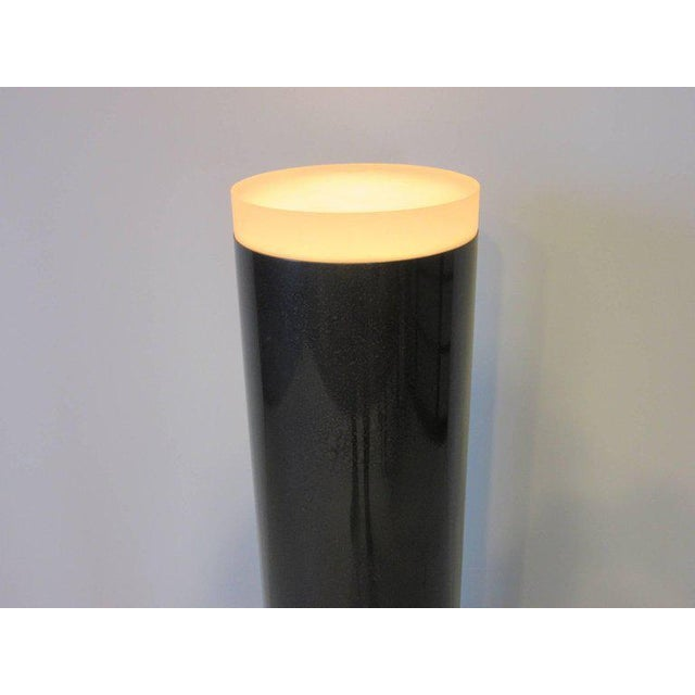 1980s Memphis Styled Lucite Light Up Column Pedestal For Sale - Image 5 of 6