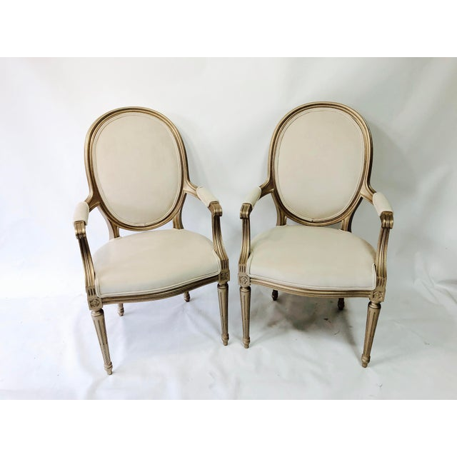 19th Century Vintage Painted Chairs - a Pair For Sale In Houston - Image 6 of 6