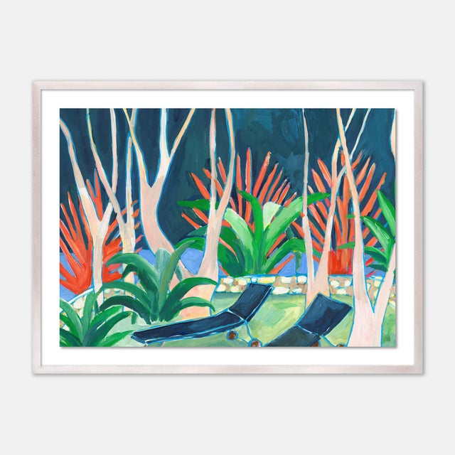 Contemporary Stargazer by Lulu DK in White Wash Framed Paper, Small Art Print For Sale - Image 3 of 3