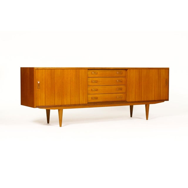 Clausen + Søn Mid Century Teak Credenza For Sale - Image 11 of 11