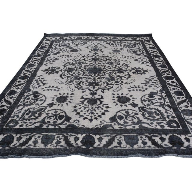 Burjusta Color Reform Frederic Gray/Gray Wool Rug - 9'3 X 11'9 A9431 For Sale - Image 4 of 7