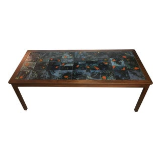 Brilliant Rosewood and Tile Coffee Table