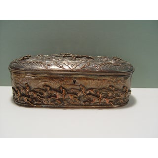 French Silver Plate Horse Racing Jewelry Box Preview