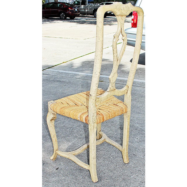 1960s Vintage Painted Dining Chairs- Set of 8 For Sale - Image 10 of 13