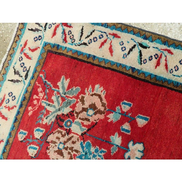 "Vintage Persian Mahal Rug - Size: 3' 8"" X 5' 1"" For Sale - Image 4 of 10"