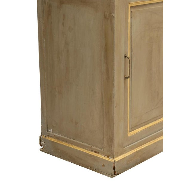 Mid 19th Century 19th Century Louis Philippe Gray Painted Shelved Cabinet For Sale - Image 5 of 6