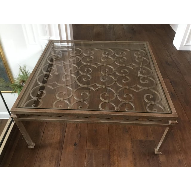 Metal Art Nouveau Scrolling Iron Coffee Table For Sale - Image 7 of 7