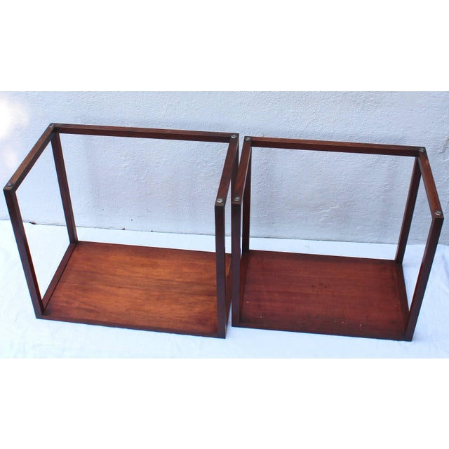 Brown Set of Two Swedish Nesting Tables by Karl Erik Ekselius For Sale - Image 8 of 9