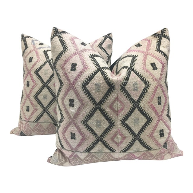 Large Chinese Wedding Blanket Pillows - a Pair - Image 1 of 9