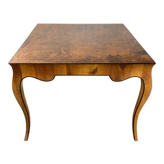 1970s Stunning Oyster Olivewood Burl Table, Made in Italy For Sale