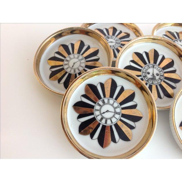 Shafford Porcelain Coasters - Set of 7 For Sale - Image 7 of 9