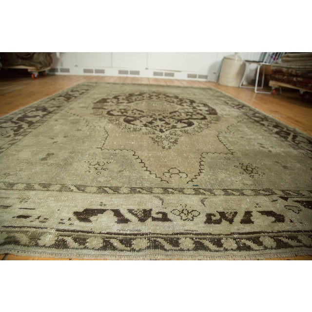 """Vintage Distressed Oushak Carpet - 6'10"""" x 10'2"""" For Sale In New York - Image 6 of 10"""