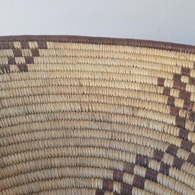 Textile 1940s Western Apache Pictoral Baket For Sale - Image 7 of 13