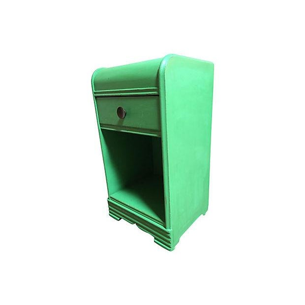Vintage 1940s Green Side Table - Image 2 of 5