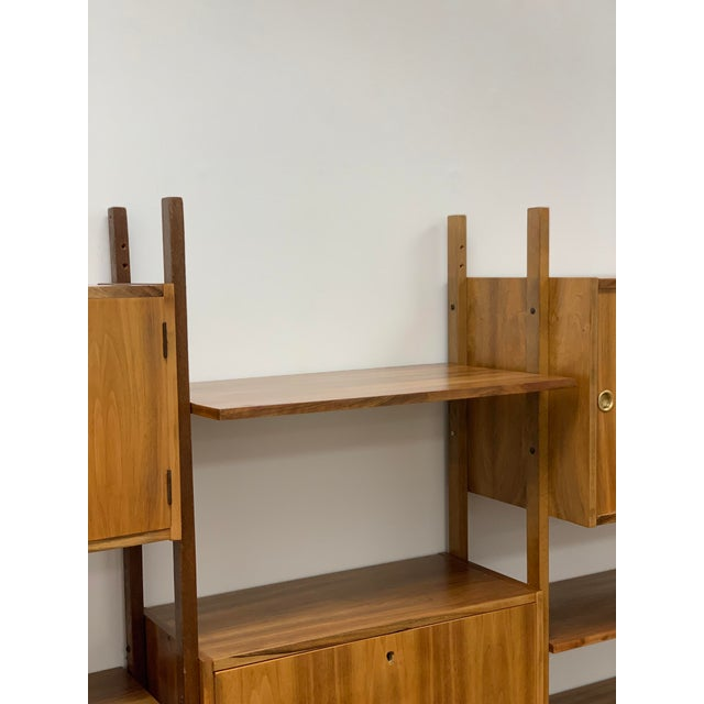 1950s Mid Century Vintage Wall Unit For Sale - Image 5 of 13