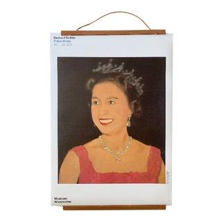 Gerhard Richter Original Exhibition Poster Featuring His Queen Elizabeth Artwork For Sale