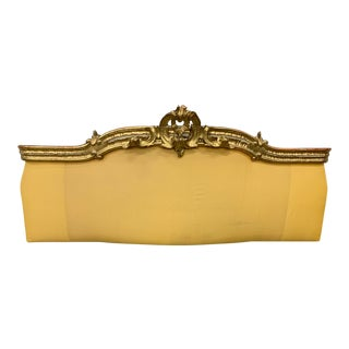 19th C Italian Parcel Gilt Upholstered Headboard For Sale