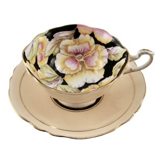 """Paragon """"Hm the Queen & Hm Queen Mary"""" Floral Cup & Saucer - England For Sale"""