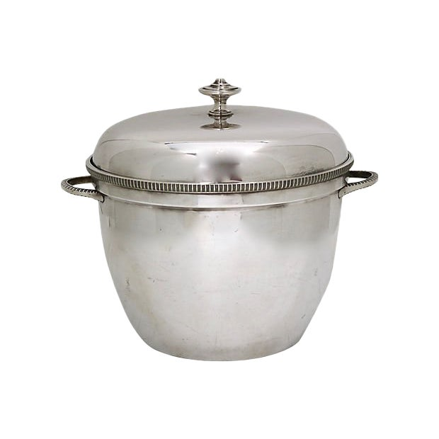 1950s English Silver-Plate Ice Bucket For Sale