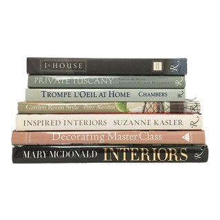 Rizzoli Home, Garden, Decorating and Interior Design Book Stack - Set of 7 For Sale
