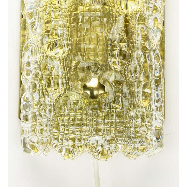 Pair Carl Fagerlund For Orrefors Glass & Brass Sconces - Image 9 of 10