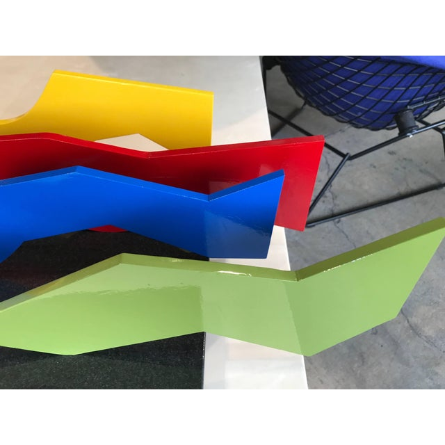 Lia DI Leo Sculptor to the Stars Vibrant Aluminium and Marble Sculpture For Sale In Palm Springs - Image 6 of 8