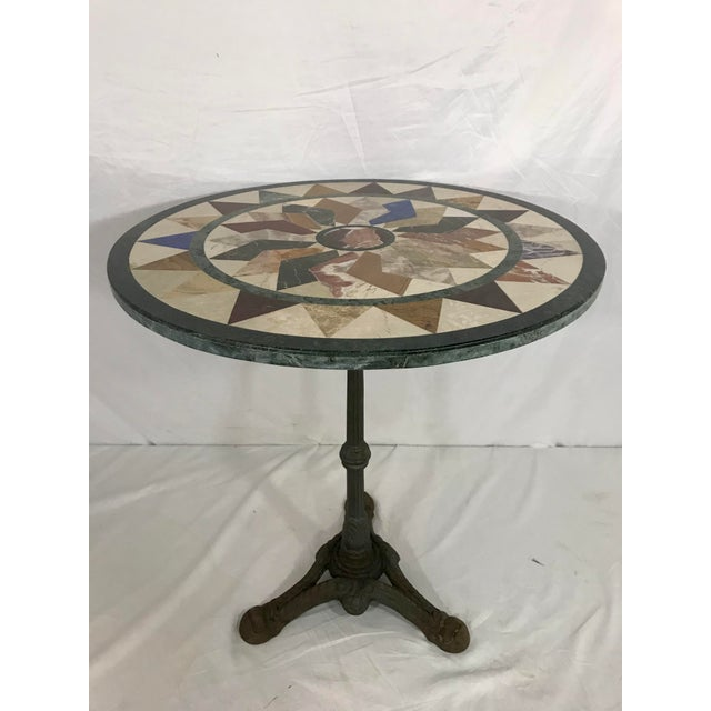 Metal French Antique Bistro Table For Sale - Image 7 of 7