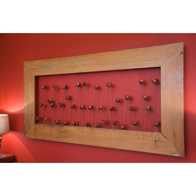Framed Metal Roses - Image 2 of 5