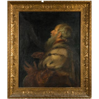 """Oil Painting After Peter Paul Rubens """"King David Playing the Harp"""" For Sale"""