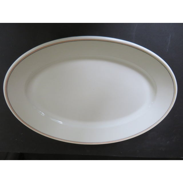 19th Century Traditional Maddock's China Trenton Ironstone Large Oval Platter For Sale - Image 4 of 4