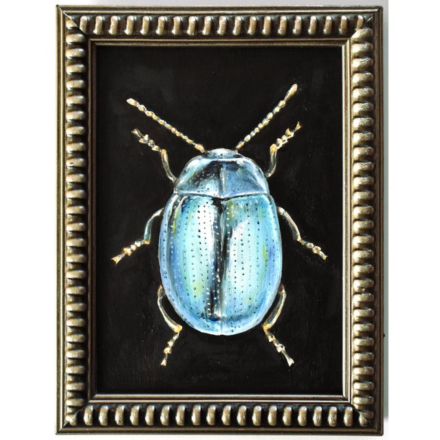 2020s Contemporary Oil Painting of a Beetle by Susannah Carson For Sale - Image 5 of 5