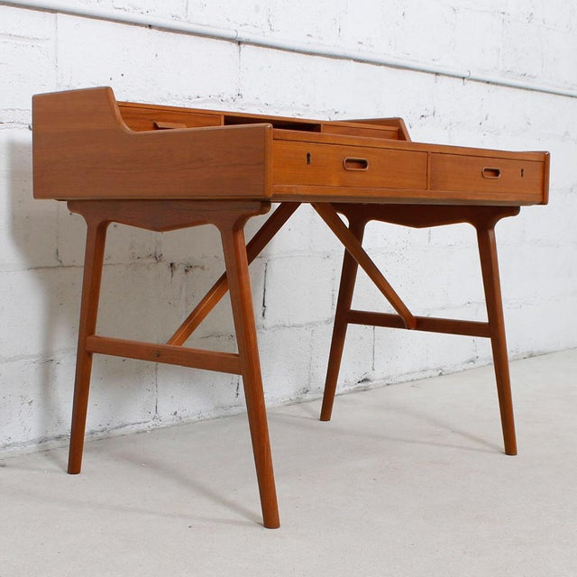 Iversen Danish Teak Writing Desk - Image 4 of 8