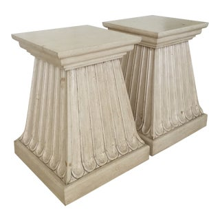 Kreiss Ribbed Dining Pedestals - a Pair For Sale