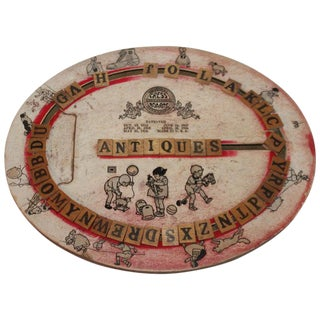 Cress Alphabet Board, Dated 1926 For Sale