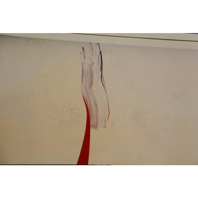 "Bijan Bahar Acrylic on Plywood ""Reach or Flying Primed"" For Sale - Image 4 of 7"