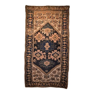 Early 20th Century Antique Persian Hamadan Rug - 3′9″ × 6′10″ For Sale