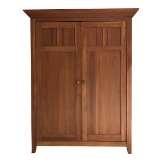 Traditional Ethan Allen Teak Media Cabinet For Sale
