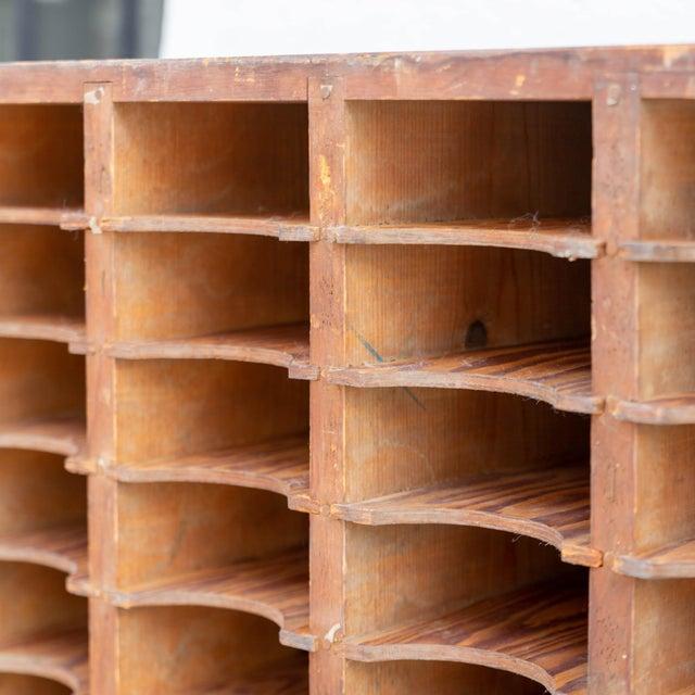 Wood Vintage Industrial Postal Sorter For Sale - Image 7 of 10