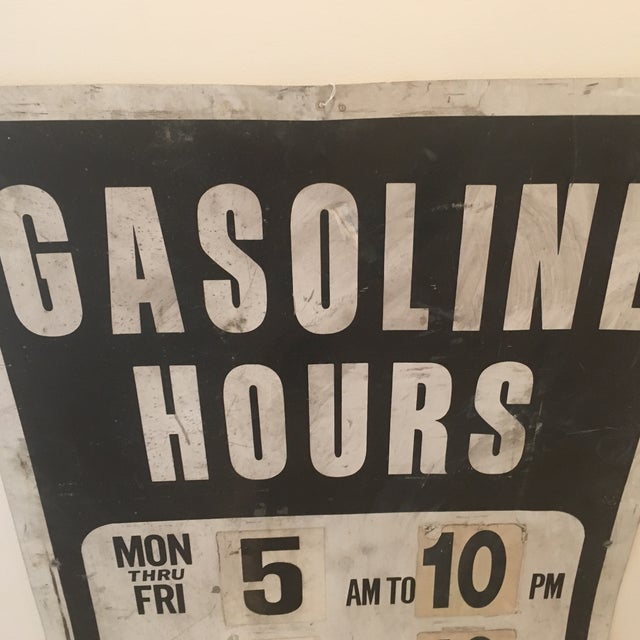 Vintage Gasoline Station Sign - Image 3 of 4