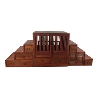 Japanese Step Tansu Cabinet For Sale