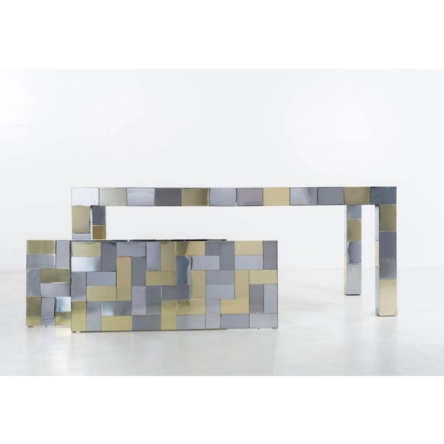 Gold Paul Evans Dining Table For Sale - Image 8 of 11