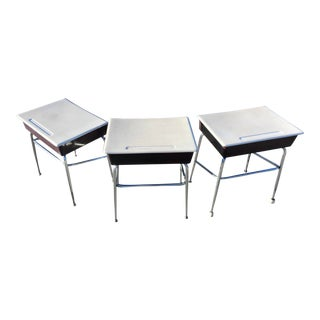 Mid-Century Modern Heywood-Wakefield School Desks - Set of 3 For Sale