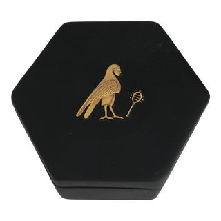 1970s Vintage Egyptian Revival Style Box For Sale