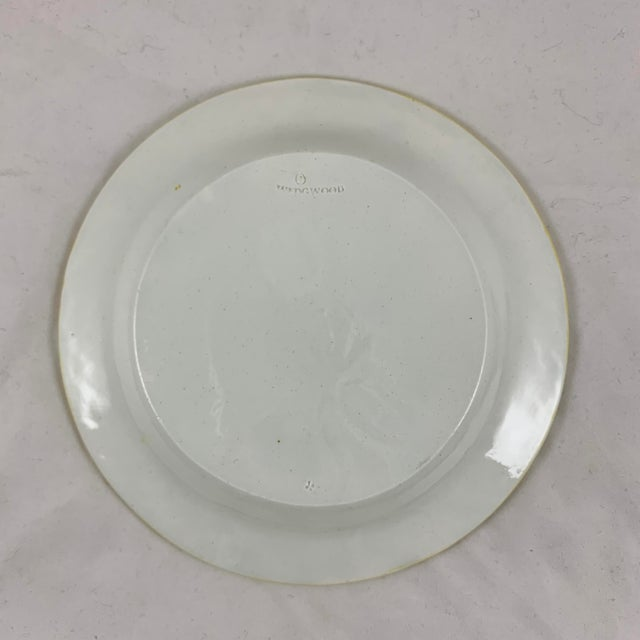 White Josiah Wedgwood Pearlware Hand Enameled Cabbage Leaf Plates, Dated 1860, Set / 6 For Sale - Image 8 of 13