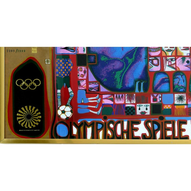 Hundertwasser Olympische Spiele Munchen 1972 Serigraph Numbered #2409/3999 Offered for sale is an original Friedensreich...