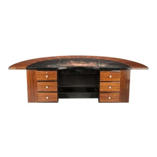 Art Deco Rosewood Executive Desk For Sale