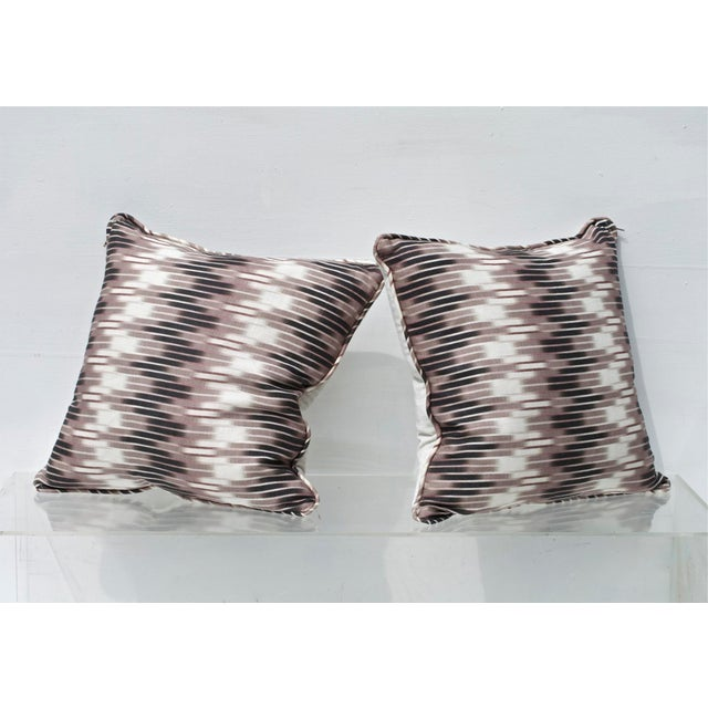Ikat Pillows in Christopher Farr Cloth - A Pair For Sale - Image 4 of 7