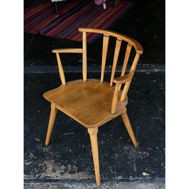 1950's Stone and Thomas made Maple mid century side chairs. With its design it still reads a modern take on the...