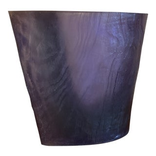 Vintage Purple Acrylic Vase by Terry Balle For Sale